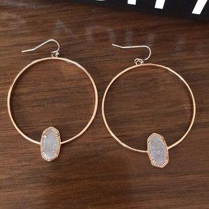 EUC Kendra Scott Hoop Earrings